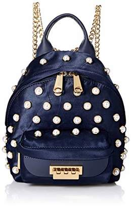 Zac Posen Eartha Iconic Micro Chain Backpack Satin Pearl Lady Parsian Nights