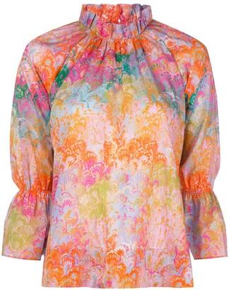 Cynthia Rowley marble-print blouse