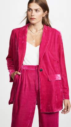 Endless Rose Velvet Single Breasted Blazer