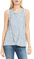 Vince Camuto TWO by Sleeveless Sheer Stripe Tank