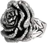King Baby Studio Sterling Silver White CZ Rose Ring