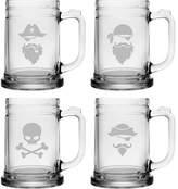 Susquehanna Glass Pirate Faces 15 ox. Tankard Mug