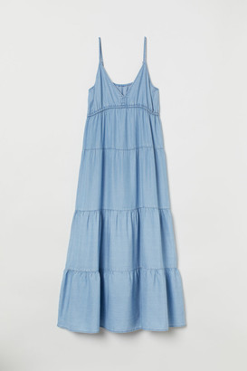 H&M Lyocell Maxi Dress - Blue