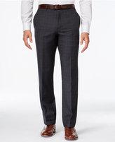 Tommy Hilfiger Charcoal Windowpane Slim-Fit Pant