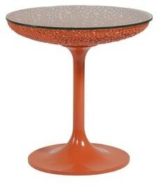 Artistica Home Signature Designs End Table Home Table Base Color: Orange
