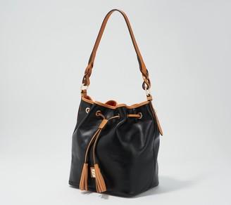 Dooney & Bourke Smooth Leather Tasha Drawstring Bag