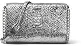 MICHAEL Michael Kors Ruby Medium Metallic Leather Clutch Bag