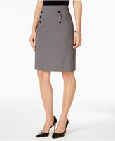 Nine West Button-Trim Pencil Skirt