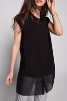 BCBGeneration Sleeveless Chiffon Tunic Top
