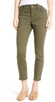 NYDJ Women's Nichelle Frayed Stretch Twill Ankle Pants