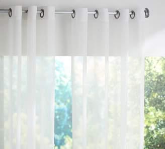 Pottery Barn Indoor/Outdoor Sheer Grommet Curtain - Gray Drizzle