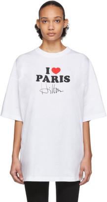 Vetements White I Love Paris T-Shirt