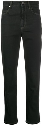 Brunello Cucinelli High-Waisted Straight Leg Jeans