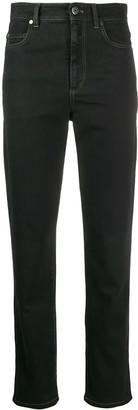 Brunello Cucinelli High-Waisted Straight Leg Jeans