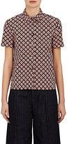 Marni Women's Tracery-Print Cotton Poplin Shirt-PINK