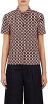Marni Women's Tracery-Print Cotton Poplin Shirt