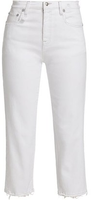 R 13 Shelley Slim-Fit Raw-Hem Jeans