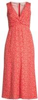 Rebecca Taylor Malia Twist Sleeveless Floral Dress