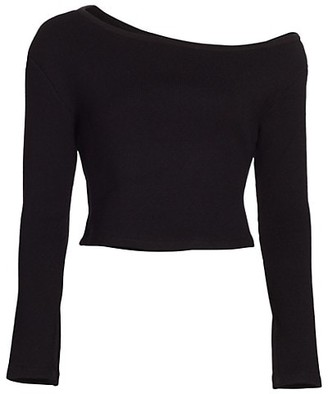 JONATHAN SIMKHAI STANDARD Off-The-Shoulder Knit Top