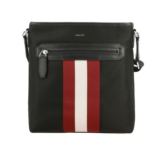 Bally Shoulder Bag Currios.tsp Bag In Canvas And Leather With Striped Band
