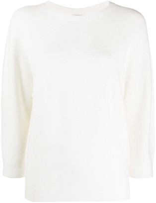 Peserico crew neck relaxed-fit jumper