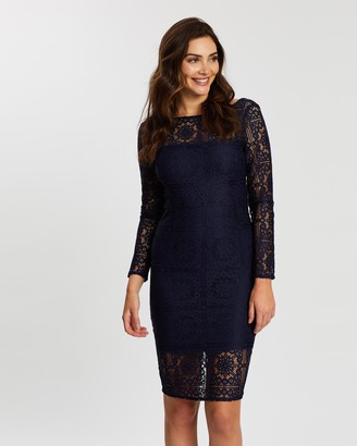 Dorothy Perkins Slash Neck Lace Bodycon Dress