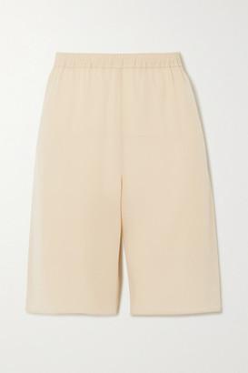 Chloé Silk-crepe Shorts - Beige