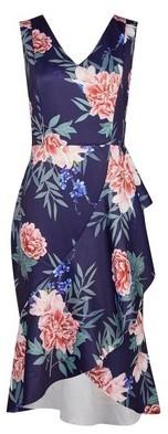 Dorothy Perkins Womens **Luxe Navy Floral Print Drape Dress