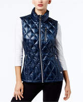 Calvin Klein Metallic Quilted Puffer Vest, a Macy's Exclusive Style