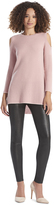 Alice + Olivia Dusty Rose Wade Cold Shoulder Tunic