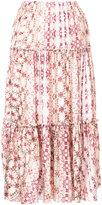 ASTRAET floral print pleated skirt