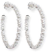 Suzanne Kalan Fireworks Baguette Diamond Hoop Earrings