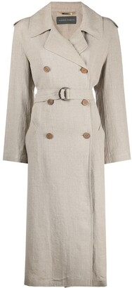 Alberta Ferretti Double-Breasted Trenchcoat