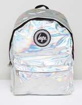 Hype Backpack In Silver Holographic