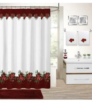 Idea Nuova Closeout! Holiday Poinsettia 17-Pc. Bath Set Bedding