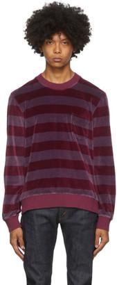 Levi's Clothing Purple Striped 1960s Crewneck