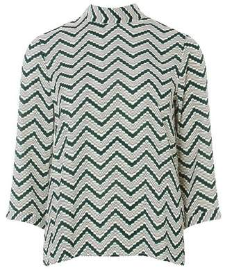 Dorothy Perkins Womens **Vero Moda Green Zig Zag Top, Green