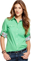 Tommy Hilfiger Shirt, Long-Sleeve Button-Front