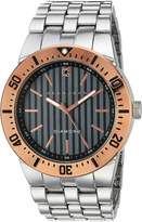 Sean John Men's 10030888 Genuine Diamond Analog Display Japanese Quartz Silver Watch