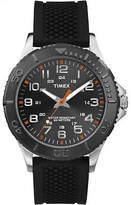 Timex Men's Taft Street | Black Silicone Strap 24-Hour Dial | Watch TW2P87200