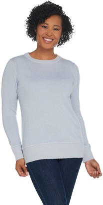 Martha Stewart Wool Cashmere Crew Neck Long Sleeve Sweater