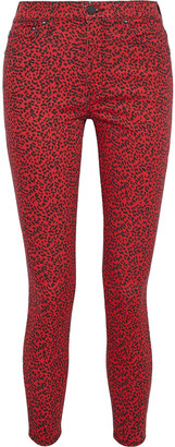 Alice + Olivia Good Leopard-print High-rise Skinny Jeans