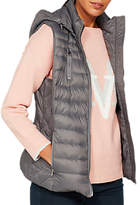 Mint Velvet Graphite Quilted Puffa Gilet, Grey