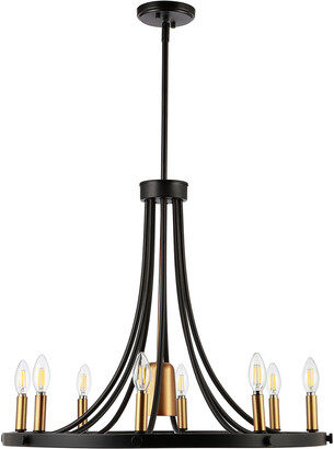 Jonathan Y Designs Urbanna 26.75In 9-Light Adjustable Iron Transitional Modern Led Chandelier