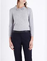 Claudie Pierlot Minuit embellished-collar jumper