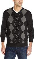 U.S. Polo Assn. Men's L/s V-Neck Argyle Soft Acrylic Sweater