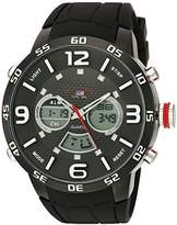 U.S. Polo Assn. Sport Men's US9541 Analog-Digital Display Analog Quartz Black Watch