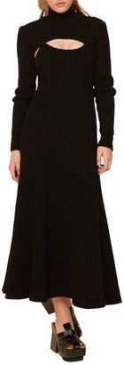 Rosie Assoulin Thousand-In-One-Ways Ribbed Wool Turtleneck Dress