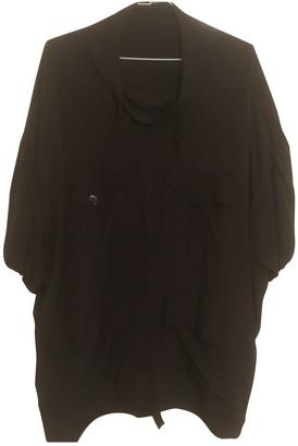 Balenciaga Black Silk Tops