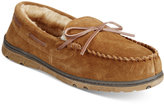 Rockport Suede Moccasin Slippers With Faux-Fur Lining